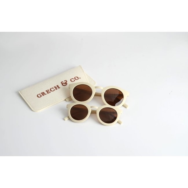 Grech & Co. Grech & Co. - Lunettes de Soleil Recyclées, Chamois, 3 ans et +