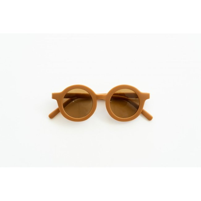 Grech & Co. Grech & Co. - Round Sustainable Sunglasses, Spice, 18m - 36m