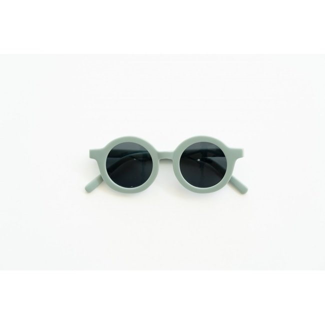 Grech & Co. Grech & Co. - Round Sustainable Sunglasses, Light Blue, 18m - 36m