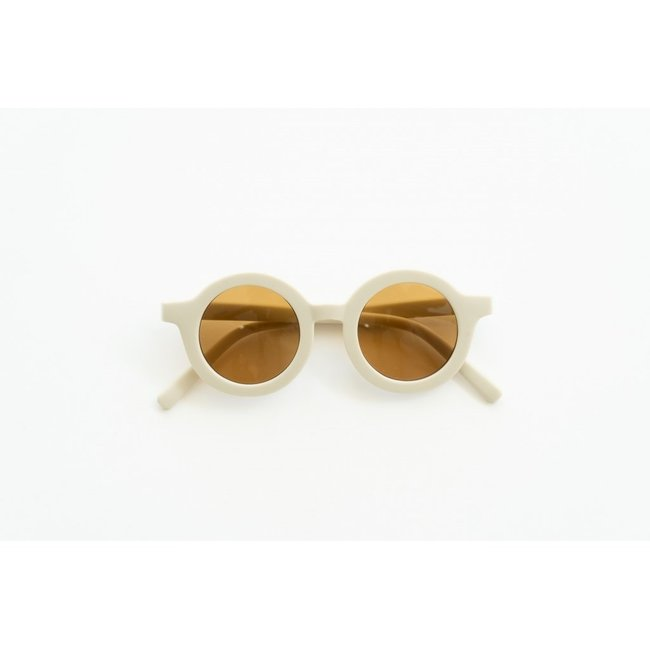 Grech & Co. Grech & Co. - Round Sustainable Sunglasses, Buff, 18m - 36m