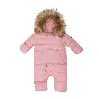 deux par deux Deux par Deux - One-Piece Car Seat Snowsuit, Pink Silver