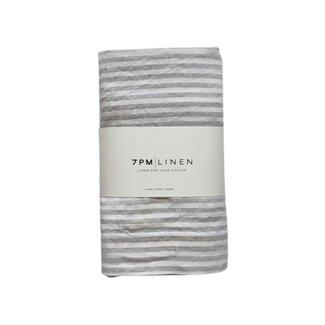 7PM Linen 7PM Linen - Linen Blanket, Natural Stripes