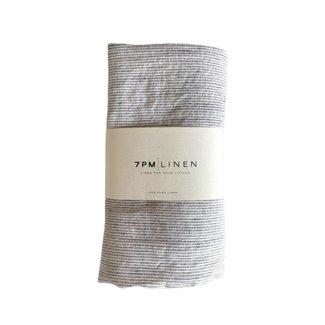 7PM Linen 7PM Linen - Couverture en Lin, Minis Rayures