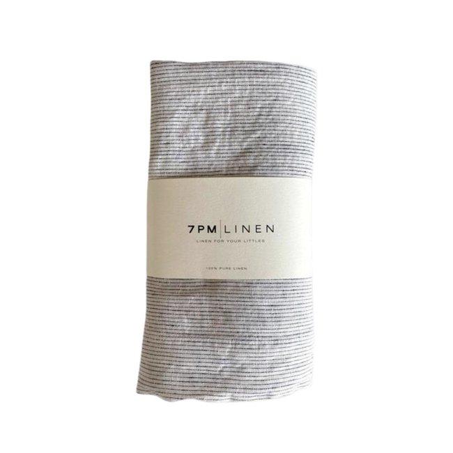 7PM Linen 7PM Linen - Linen Blanket, Minis Stripes