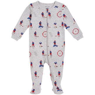 Petit Lem Petit Lem -  Organic Cotton Knitted Sleeper, Hockey