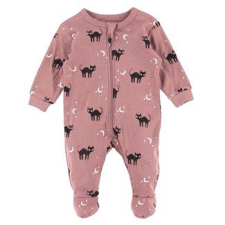 Petit Lem Petit Lem - Pyjama à Pattes en Coton Biologique, Chats Noirs