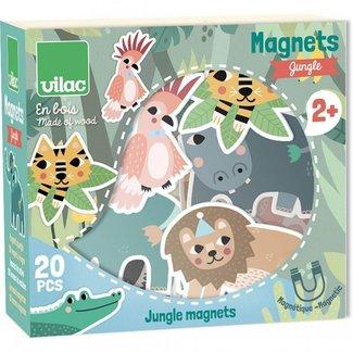 Vilac Vilac - 20 Piece Magnets Set, Jungle