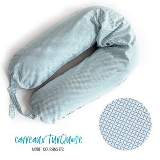 Coussins Etc. Coussins Etc - Big Cushion of Microbeads, Turquoise Tiles