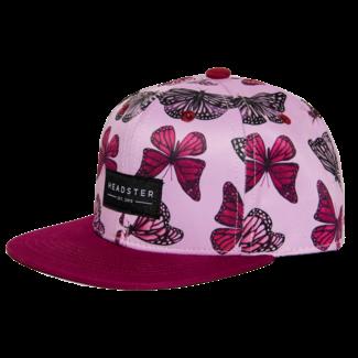 Headster Kids Headster Kids - Cap, Butterfly High Pink
