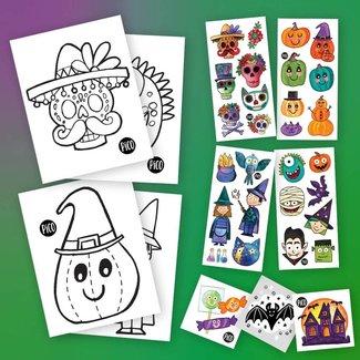 Pico Tatouages Temporaires Pico Tatoo - Ensemble d'Halloween
