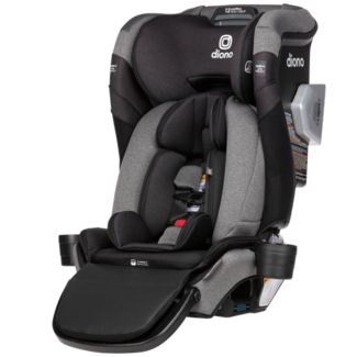 Diono Diono - Radian 3QXT+ Hybrid Car Seat, Latch Black Jet