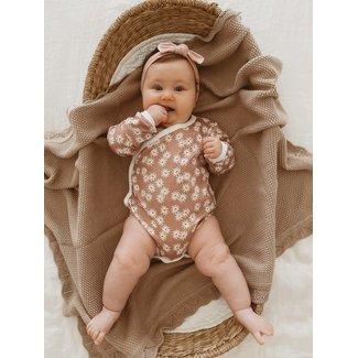 Ziggy Lou Ziggy Lou - Heirloom Knit Blanket, Rosewood