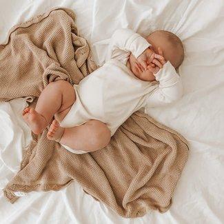 Ziggy Lou Ziggy Lou - Heirloom Knit Blanket, Caramel