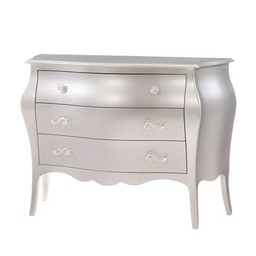 Natart Juvenile Natart Alexa - Commode à 3 Tiroirs/3 Drawer Dresser Argent/Silver Taille Unique/One Size