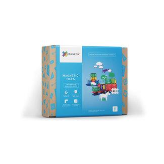Connetix Connetix - Jeu de Construction avec Tuiles Magnétiques, Véhicule de 24 Pièces