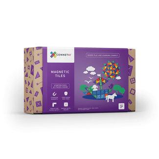 Connetix Connetix - Building Set with Magnetic Tiles, 62 Pieces Starter Pack