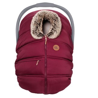 Petit Coulou Petit Coulou - Winter Baby Car Seat Cover, Grenadine Wolf