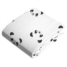 Kushies Kushies - Drap Contour de Flanelle pour Matelas à Langer/Flannel Change Pad Fitted Sheet, Pandas