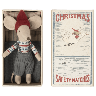 Maileg Maileg - Christmas Big Brother Mouse in Matchbox