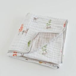 Little Unicorn Couette en Mousseline de Coton de Little Unicorn/Little Unicorn Cotton Quilt, Petit Cerf/Deer