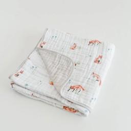Little Unicorn Couette en Mousseline de Coton de Little Unicorn/Little Unicorn Cotton Quilt, Renard/Fox