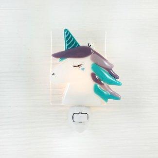 Veille Sur Toi Veille Sur Toi - Glass Nightlight Clara The Unicorn