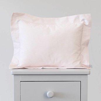Bouton Jaune Bouton Jaune - Cache-Oreiller 10x13 Pouces/10x13 Inches Pillow Cover, Liberté, Rayé Rose/Pink Stripe