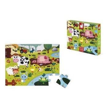 Janod Janod - Casse-Tête Tactile Animaux de la Ferme/Tactiles Puzzle Farm Animals