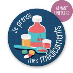 Minimo Minimo - Aimant à l'unité/Single Magnet, Je Prends Mes Médicaments/I Take My Pills