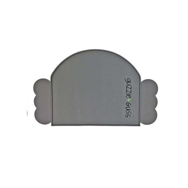 Guzzie + Guss Guzzie + Guss - Napperon en Silicone/Silicone Placemat, Gris/Grey