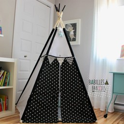 Babilles & Babioles Babilles & Babioles, Exclusivité - Tipi, Noir et Blanc Triangles/Black and White Triangles