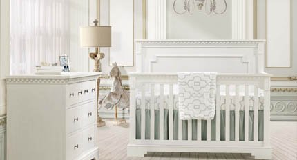 Convertible crib double bed