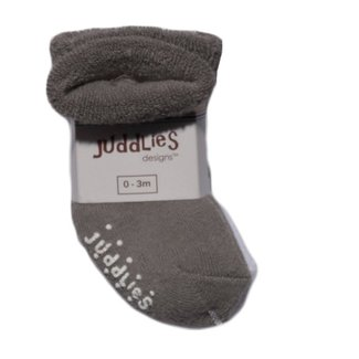 Juddlies Juddlies - Pack of 2 Infant Socks, White and Grey