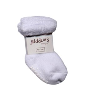 Juddlies - Pack of 2 Infant Socks, White and White