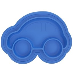 Kushies Kushies - Assiette Voiture en Silicone/Silicone Car Plate, Bleu/Blue