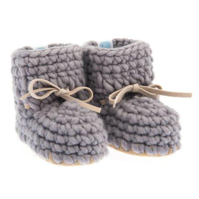 Beba Bean Beba Bean - Mocassins de Laine/Sweater Moccs, Gris/Grey