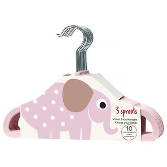 3 sprouts 3 Sprouts - Kids Hanger, Pink Elephant