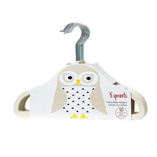 3 sprouts 3 Sprouts - Kids Hanger, Beige Owl