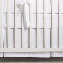 Bouton Jaune Bouton Jaune- Jupe de Lit/Bedskirt, Sur Un Nuage, Blanc/White