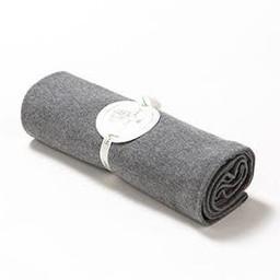"Bouton Jaune Bouton Jaune - 42"" x 42"" Organic Cotton Blanket, Grey Chambered"