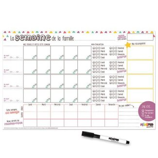 Minimo Minimo - Family Organizer One Week at a Time