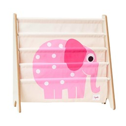 3 sprouts 3 Sprouts - Support à Livres/Book Rack/ Éléphant Rose/Pink Elephant