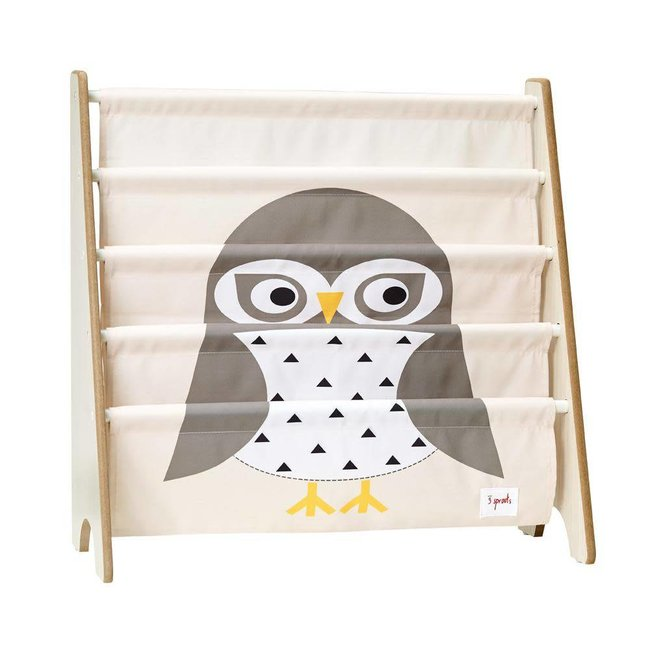 3 sprouts 3 Sprouts - Book Rack, Gray Owl