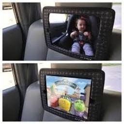 JJ Cole JJ Cole - Support 2-en-1 pour iPad et Miroir/2-in-1 Support for Ipad and Mirror, Goutte Grise/Gray Drop