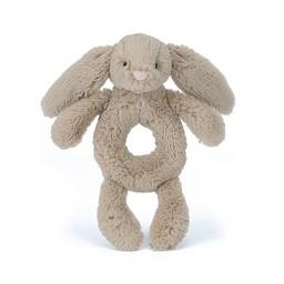 Jellycat Hochet Lapin Bashful de Jellycat/Jellycat Bashful Bunny Grabber, Beige
