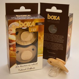 Boka Boka - Suces en Bois et Silicone/Wood and Silicone Pacifiers, 6-18 mois/months