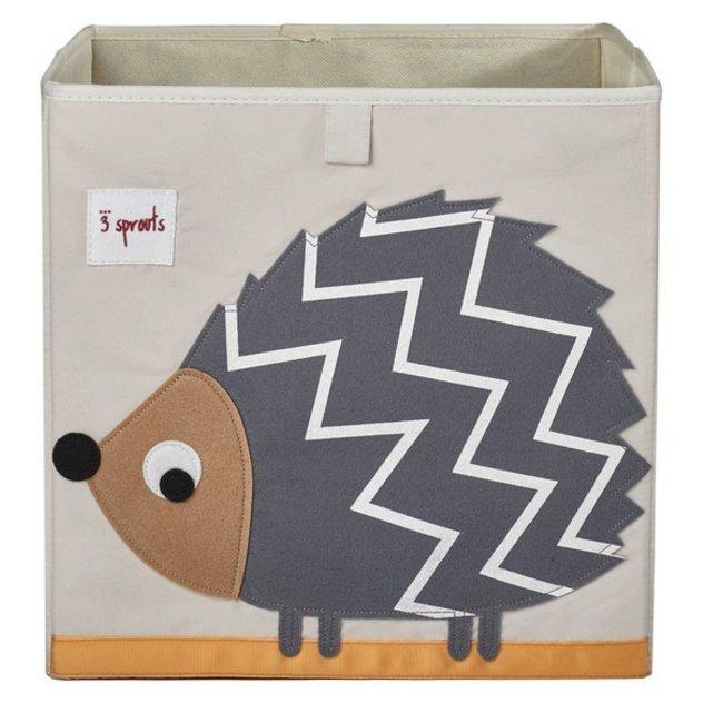 3 sprouts 3 Sprouts - Storage Box, Grey Hedgehog