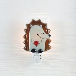Veille Sur Toi Veille sur Toi - Veilleuse en Verre Hérisson Edmond / Glass Nightlight Hedgehog