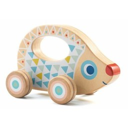 Djeco Djeco- Jouet à Pousser/Push Toy, BabyRouli, Hérisson/Hedgehog
