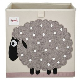 3 sprouts 3 Sprouts - Boîte de Rangement/Storage Box, Mouton Gris/Grey Sheep